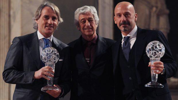 Vialli Mancini e Rivera nel 2016