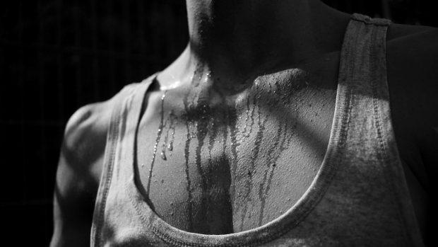 atleta che suda